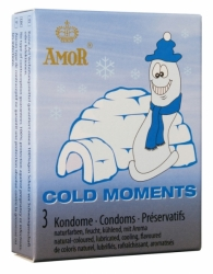 AMOR Cold Moments Kondome 3er